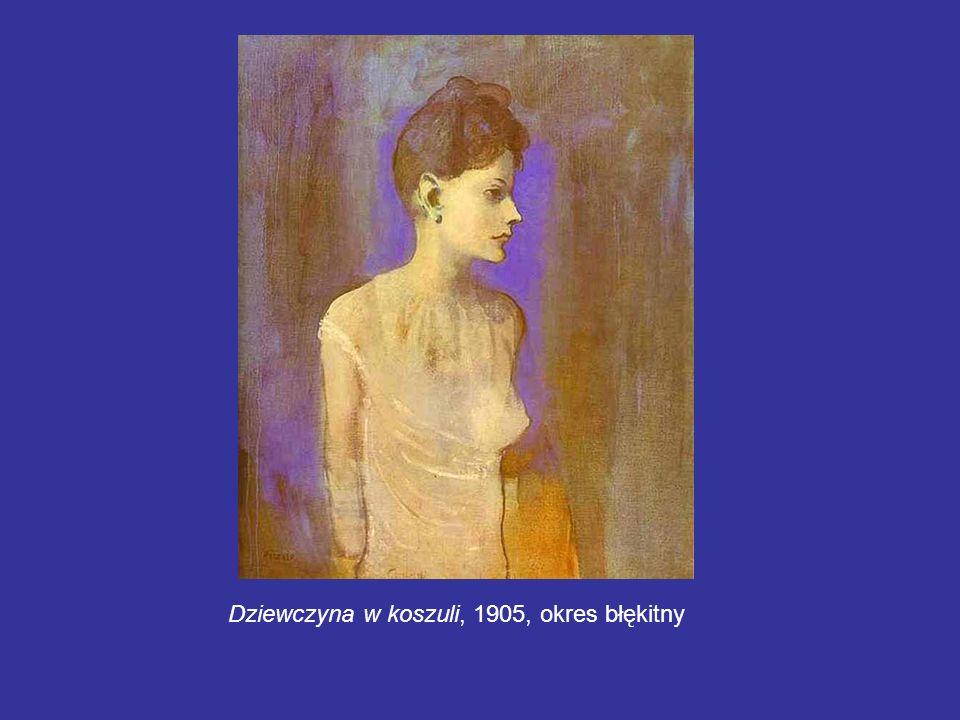 Dziewczyna w koszuli, 1905, okres błękitny