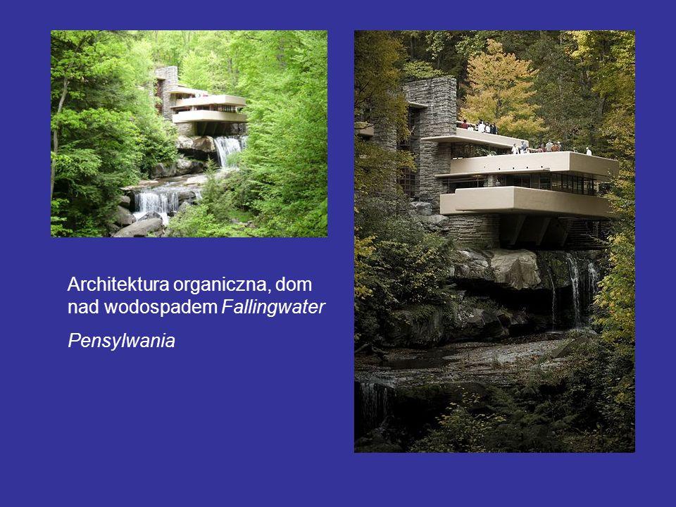 Architektura organiczna, dom nad wodospadem Fallingwater Pensylwania