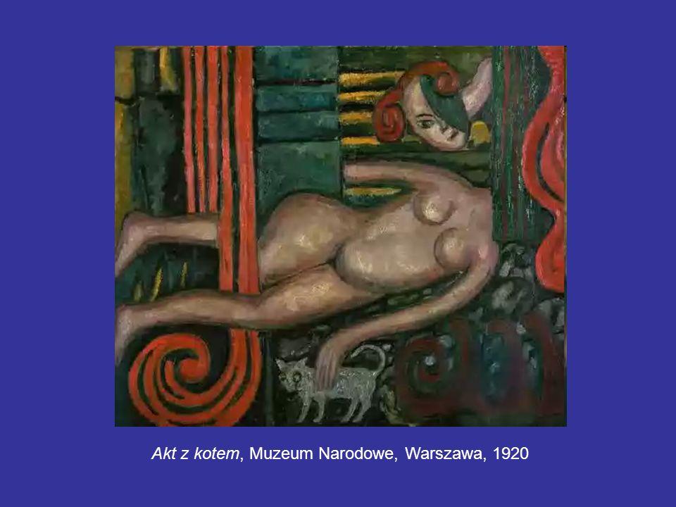 Akt z kotem, Muzeum Narodowe, Warszawa, 1920
