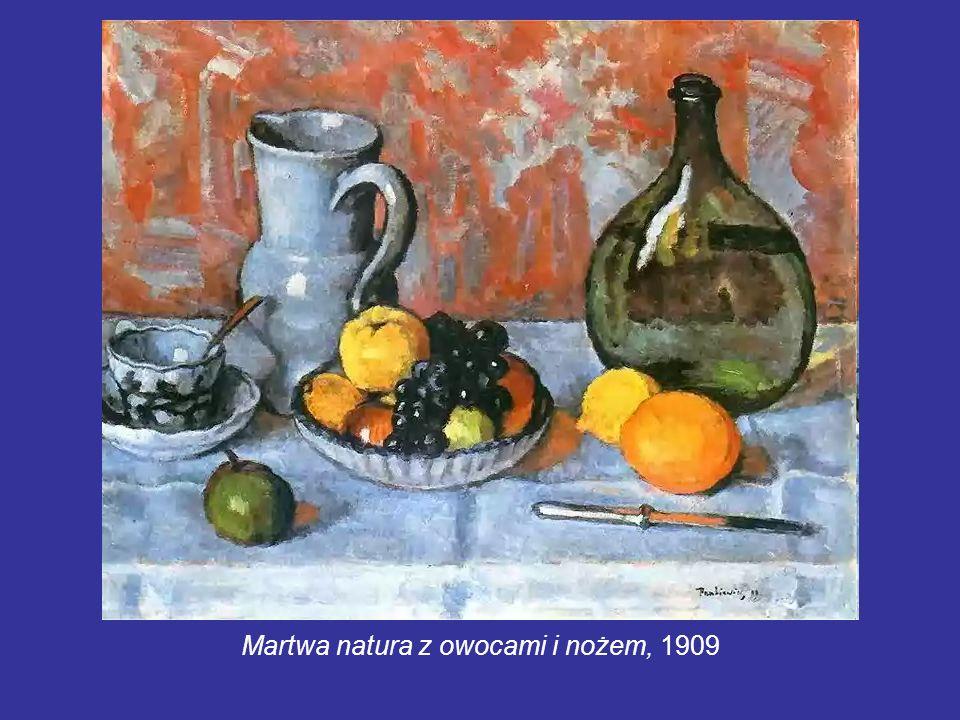 Martwa natura z owocami i nożem, 1909
