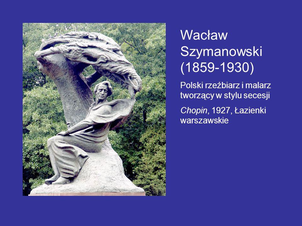 Wacław Szymanowski (1859-1930) Polski rzeźbiarz i malarz tworzący w stylu secesji Chopin, 1927, Łazienki warszawskie