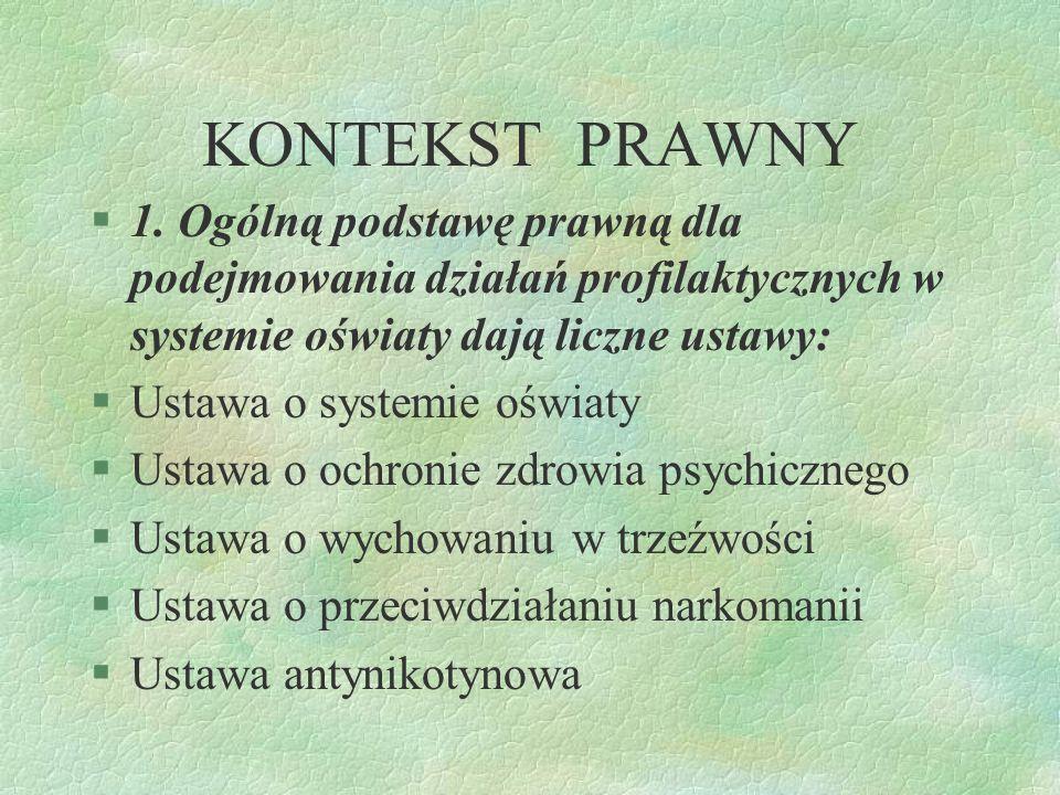 Lepiej zapobiegać, niż szukać lekarstwa SZKOLNY PROGRAM PROFILAKTYKI GIMNAZJALISTA W ŚWIETLE WSPÓŁCZESNYCH ZAGROŻEŃ opracowała: Julita Szmuga PUBLICZN