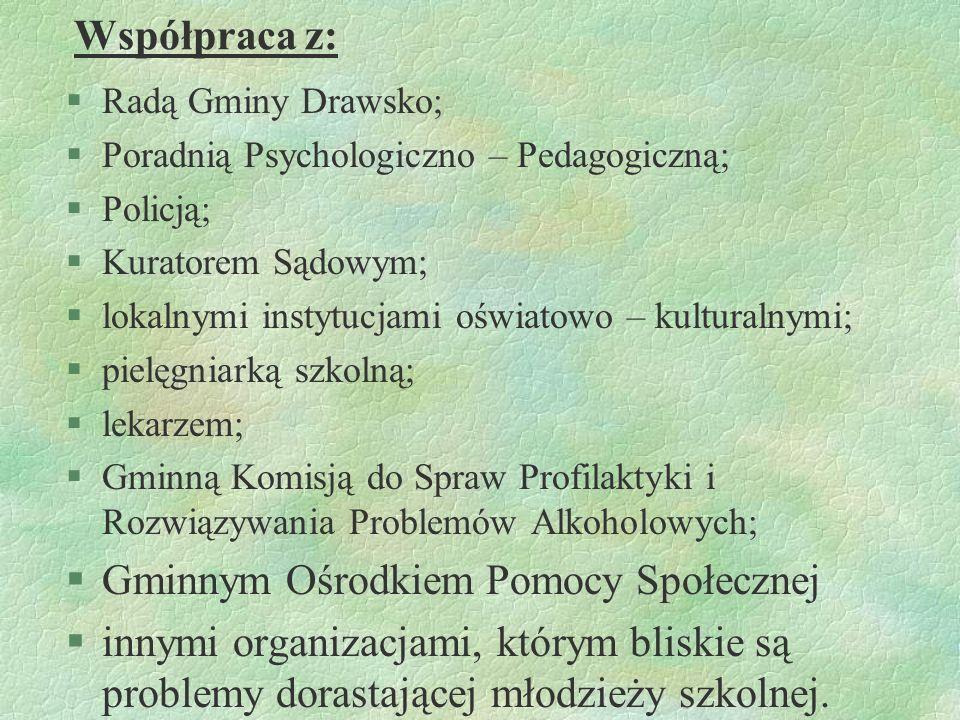 Odpowiedzialni za realizację programu: § wychowawcy klas; §nauczyciele; §rodzice; §pedagog szkolny.