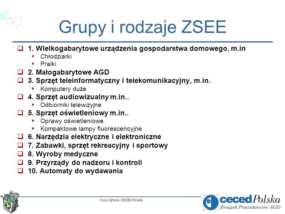 5 AGD reprezentuje największy strumień wprowadzenia i odpadów ZSEE > 50%) (> 50%) ZSEE & AGD