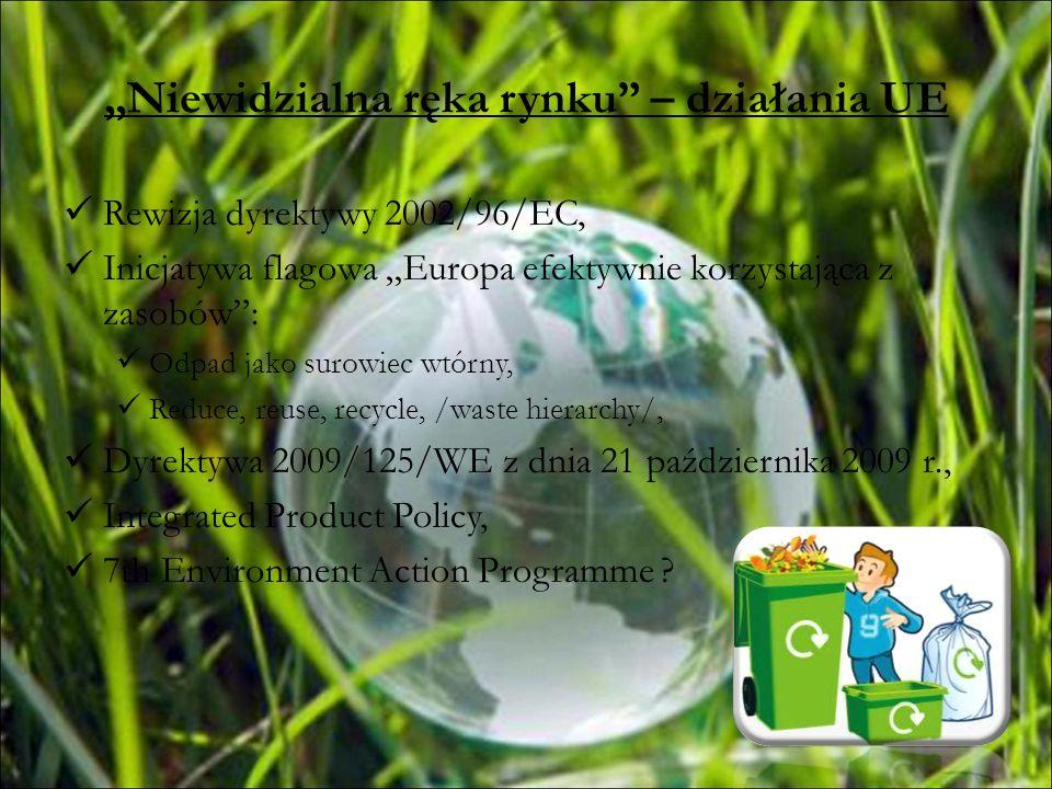 Niewidzialna ręka rynku – działania UE Rewizja dyrektywy 2002/96/EC, Inicjatywa flagowa Europa efektywnie korzystająca z zasobów: Odpad jako surowiec