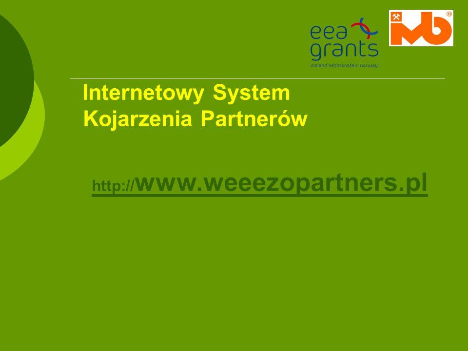 Internetowy System Kojarzenia Partnerów http:// www.weeezopartners.pl