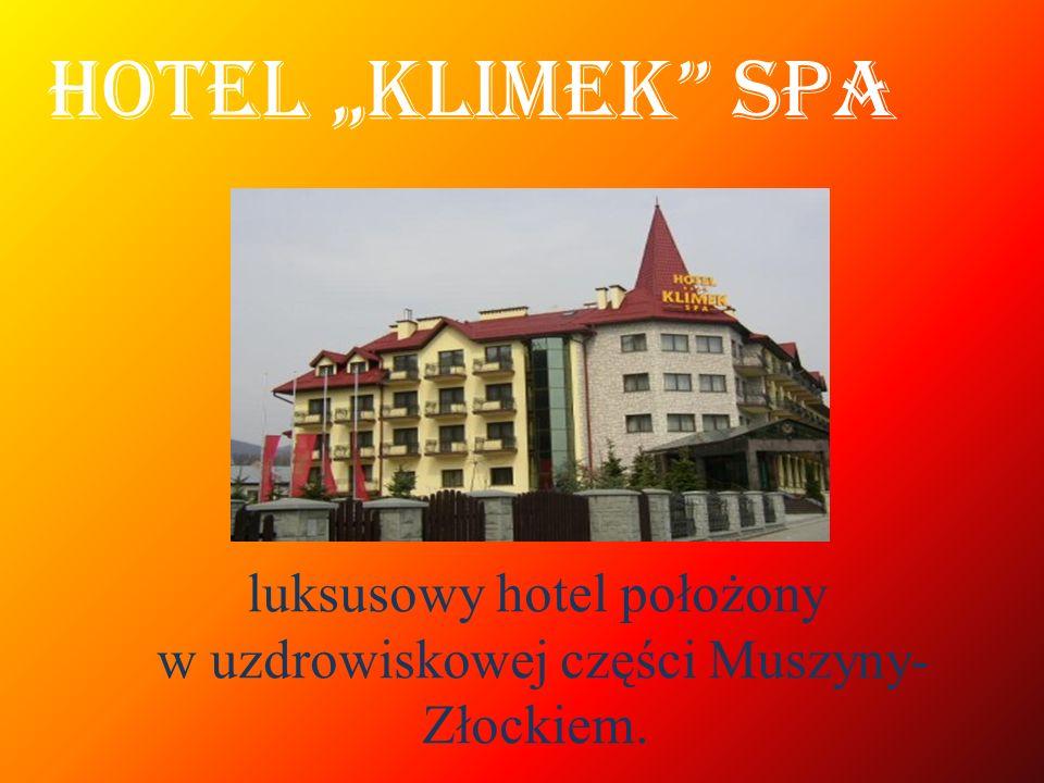 luksusowy hotel położony w uzdrowiskowej części Muszyny- Złockiem. HOTEL KLIMEK SPA