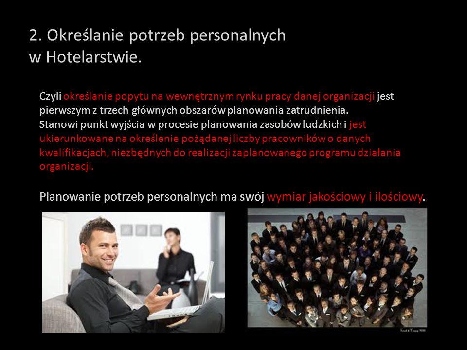 6. Profile cech osobowych pracowników Hotelarstwa.