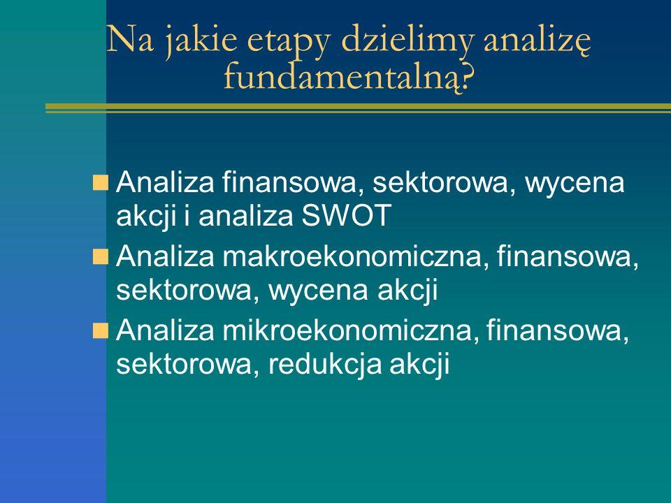 Na jakie etapy dzielimy analizę fundamentalną.