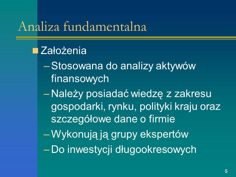 6 Etapy analizy fundamentalnej 1.Analizy makroekonomicznej.