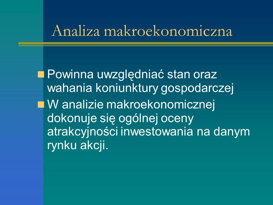 Analiza sektorowa Czy posiada zdolności rozwoju w stosunku do całej gospodarki?