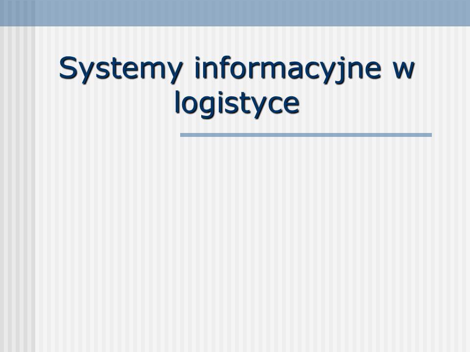 Systemy informacyjne w logistyce