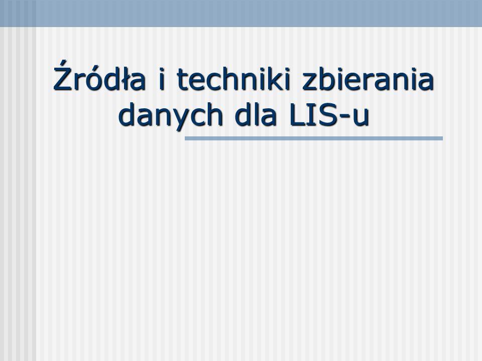 Źródła i techniki zbierania danych dla LIS-u