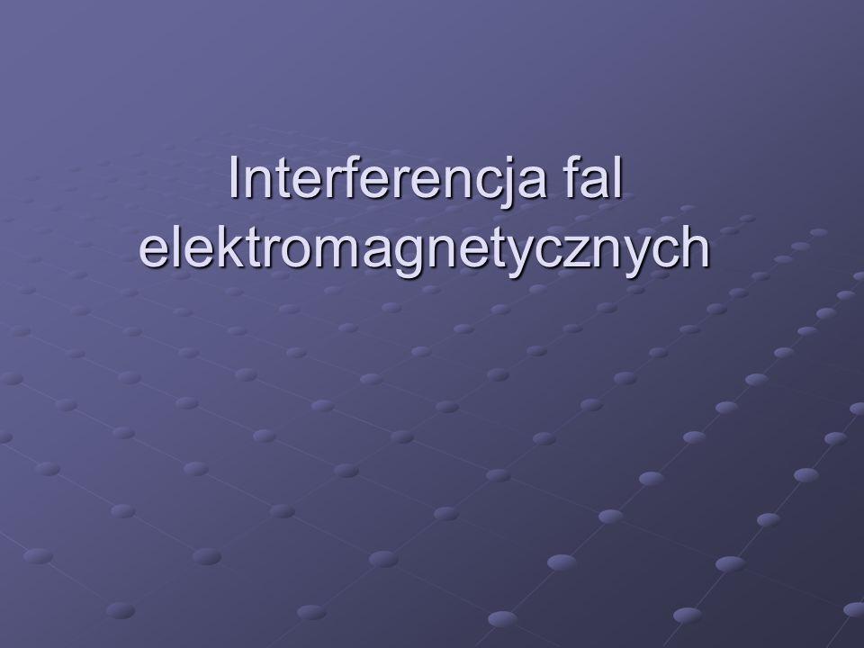 1.Równanie falowe; rozwiązanie Równanie pola elektromagnetycznego w próżni (równanie falowe) Rozwiązanie: fala płaska, spolaryzowana liniowo, biegnąca w kierunku x