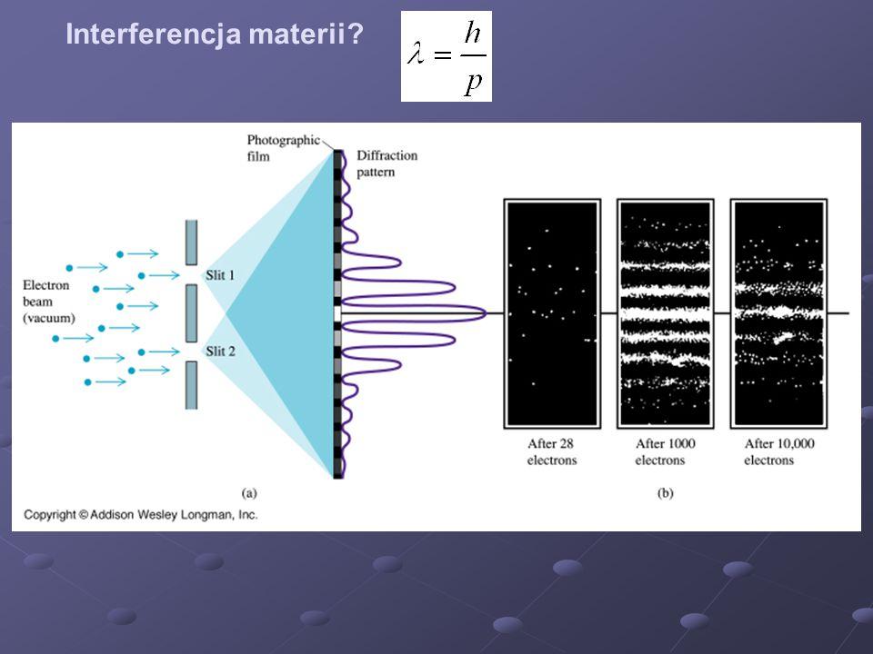 Interferencja materii?