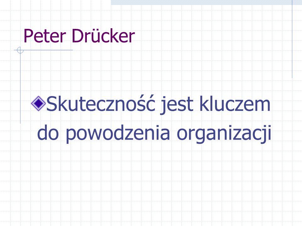 Peter Drücker Skuteczność jest kluczem do powodzenia organizacji