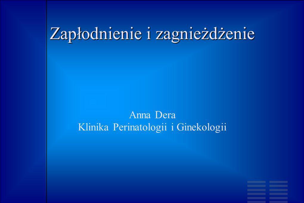 Zapłodnienie i zagnieżdżenie Anna Dera Klinika Perinatologii i Ginekologii