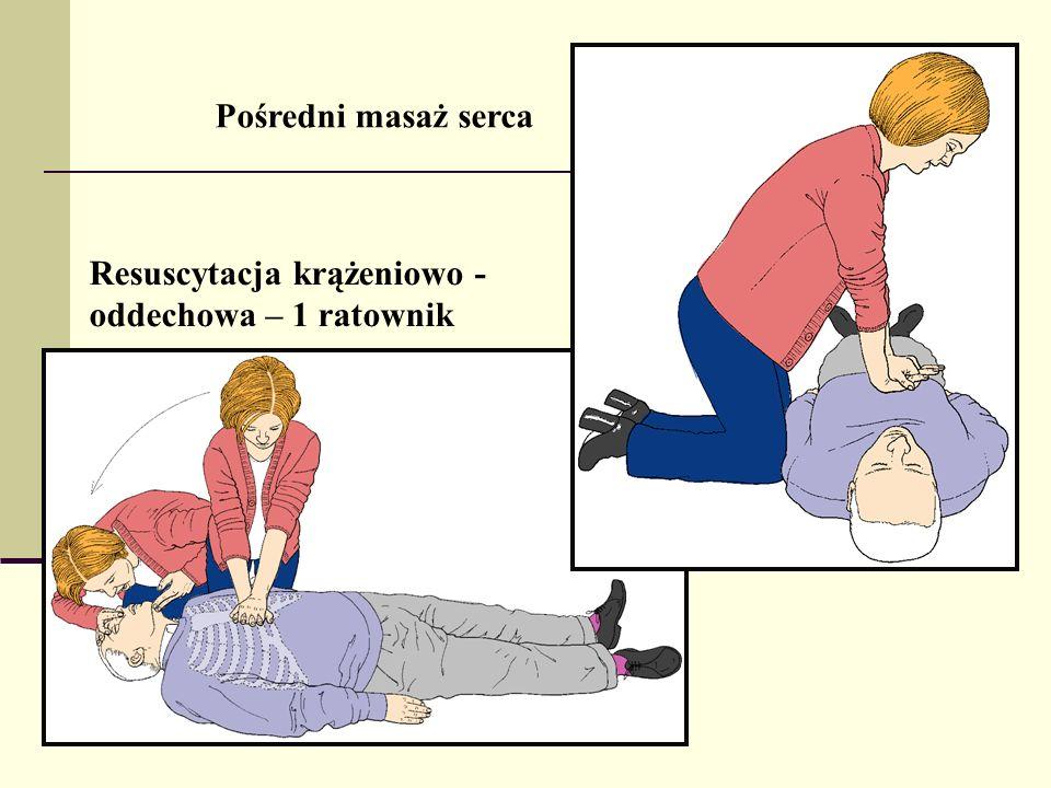Pośredni masaż serca Resuscytacja krążeniowo - oddechowa – 1 ratownik