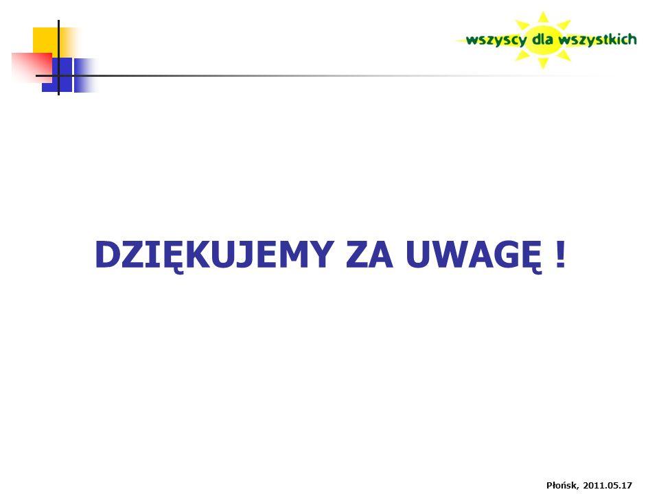 DZIĘKUJEMY ZA UWAGĘ ! Płońsk, 2011.05.17