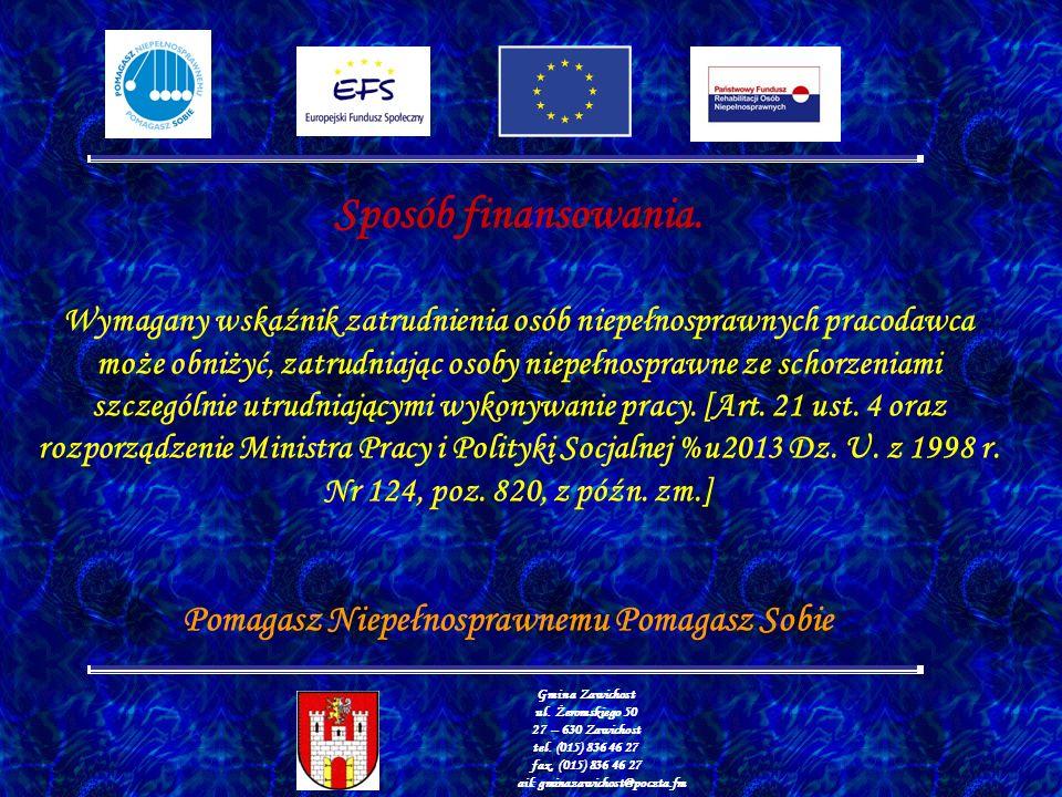 Gmina Zawichost ul. Żeromskiego 50 27 – 630 Zawichost tel.