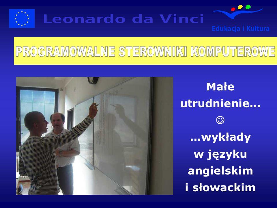 Małe utrudnienie......wykłady w języku angielskim i słowackim