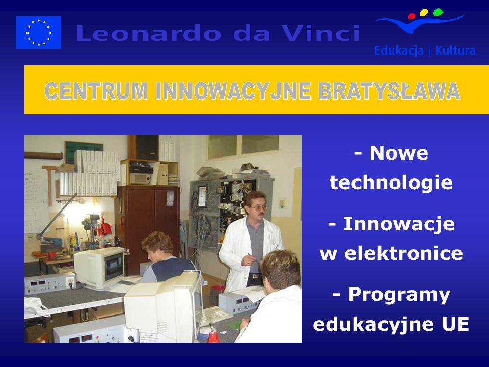 - Nowe technologie - Innowacje w elektronice - Programy edukacyjne UE