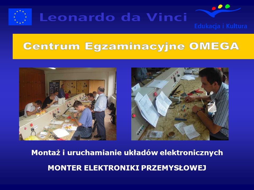 Montaż i uruchamianie układów elektronicznych MONTER ELEKTRONIKI PRZEMYSŁOWEJ