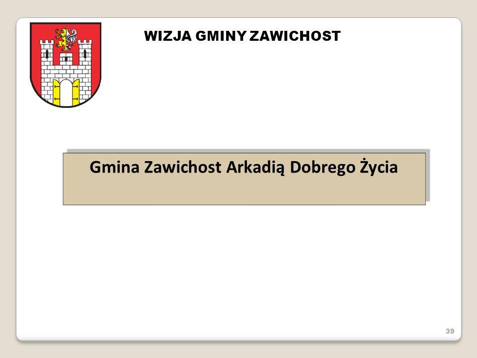 39 Gmina Zawichost Arkadią Dobrego Życia WIZJA GMINY ZAWICHOST