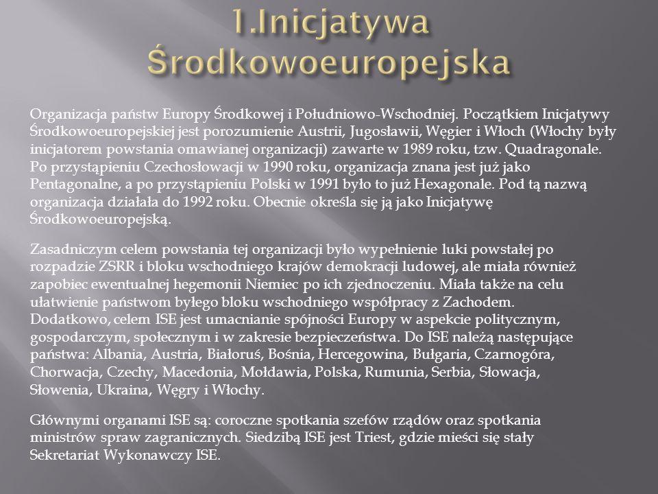 Organizacja państw Europy Środkowej i Południowo-Wschodniej.