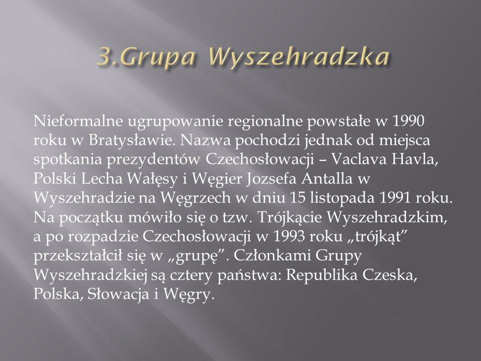 Nieformalne ugrupowanie regionalne powstałe w 1990 roku w Bratysławie.