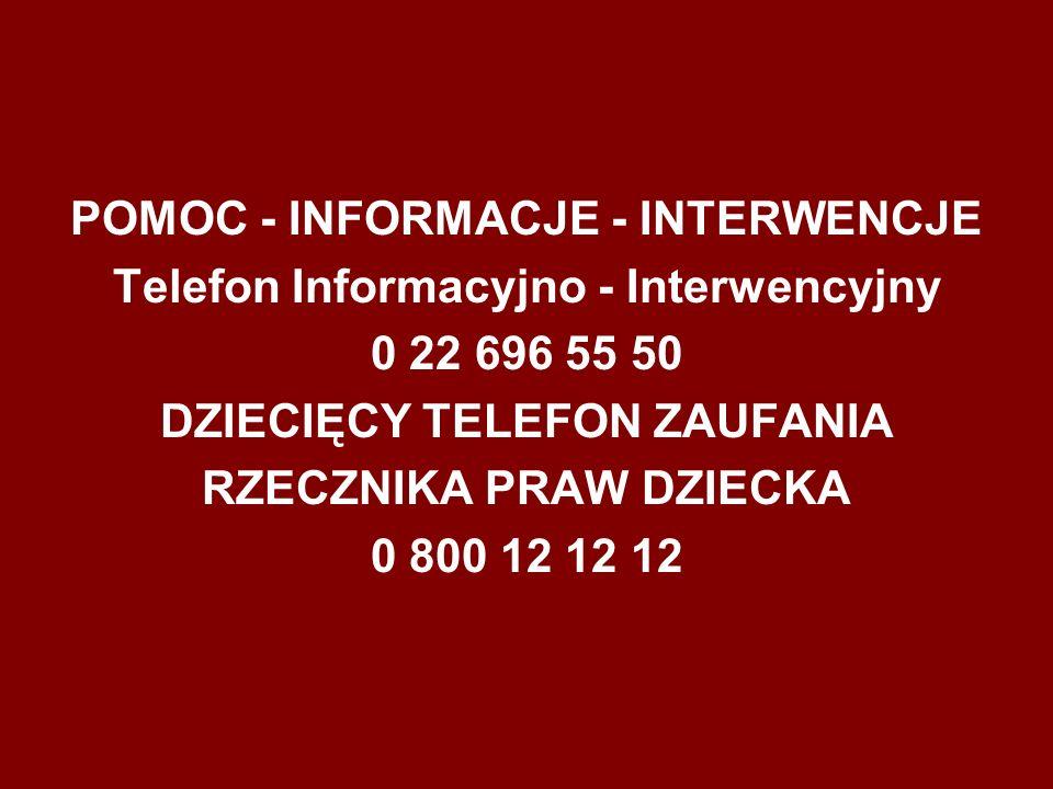 Opracowano na podstawie materiałów dostępnych na stronie www.niebieskalinia.pl