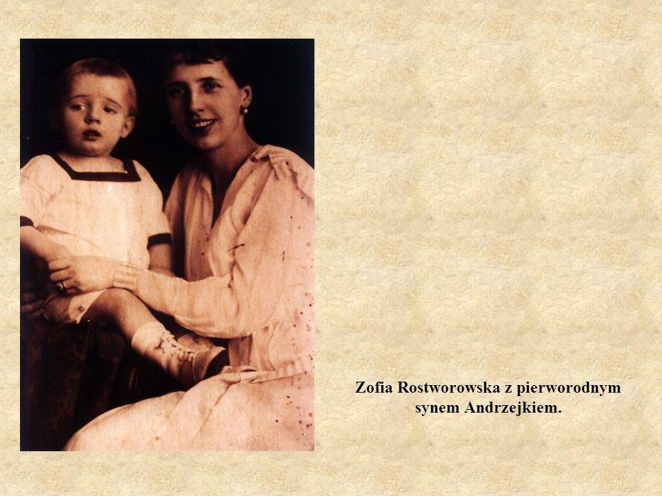 Zofia Rostworowska z pierworodnym synem Andrzejkiem.