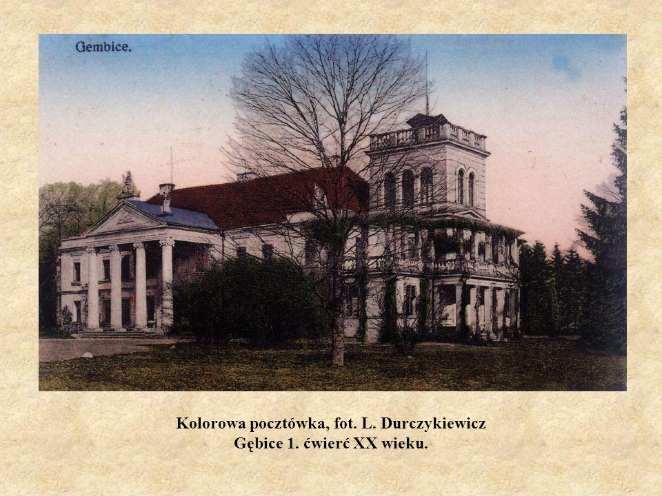 Kolorowa pocztówka, fot. L. Durczykiewicz Gębice 1. ćwierć XX wieku.