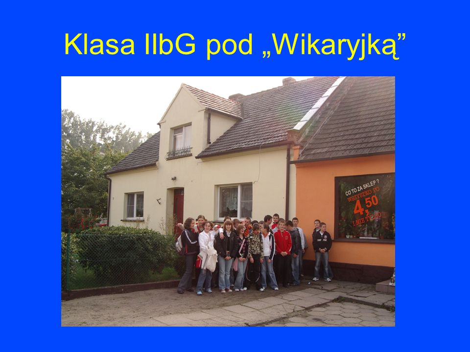 Klasa IIbG pod Wikaryjką