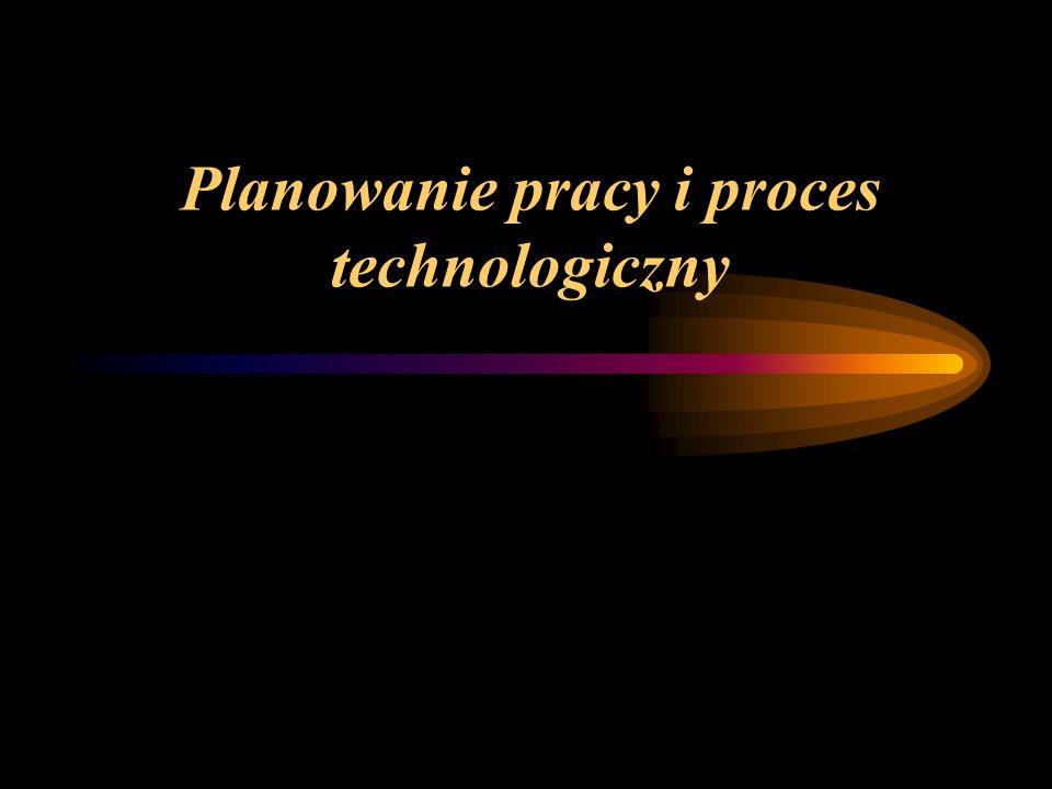 Planowanie pracy i proces technologiczny