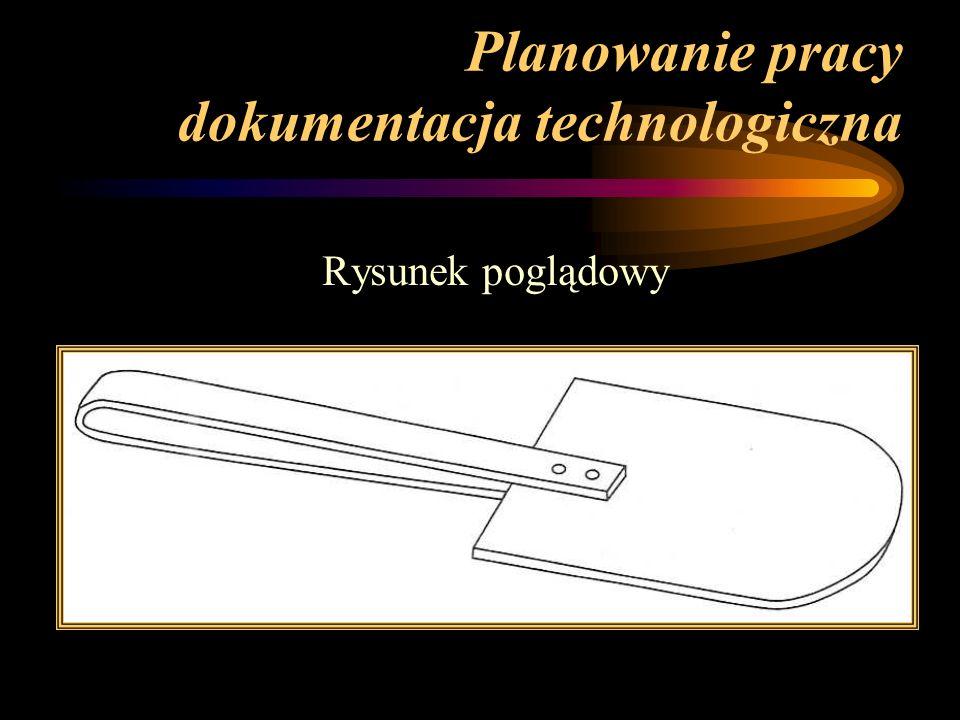 Planowanie pracy dokumentacja technologiczna Rysunek poglądowy