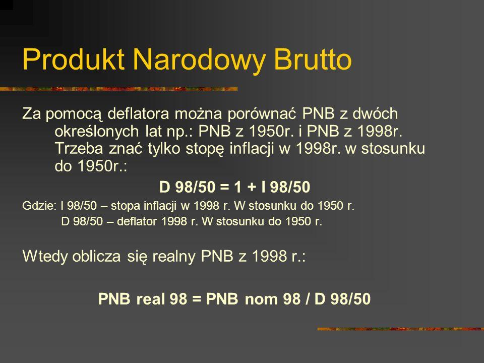 Produkt Narodowy Brutto PNB można również porównać w przestrzeni, szczególnie pomiędzy krajami.
