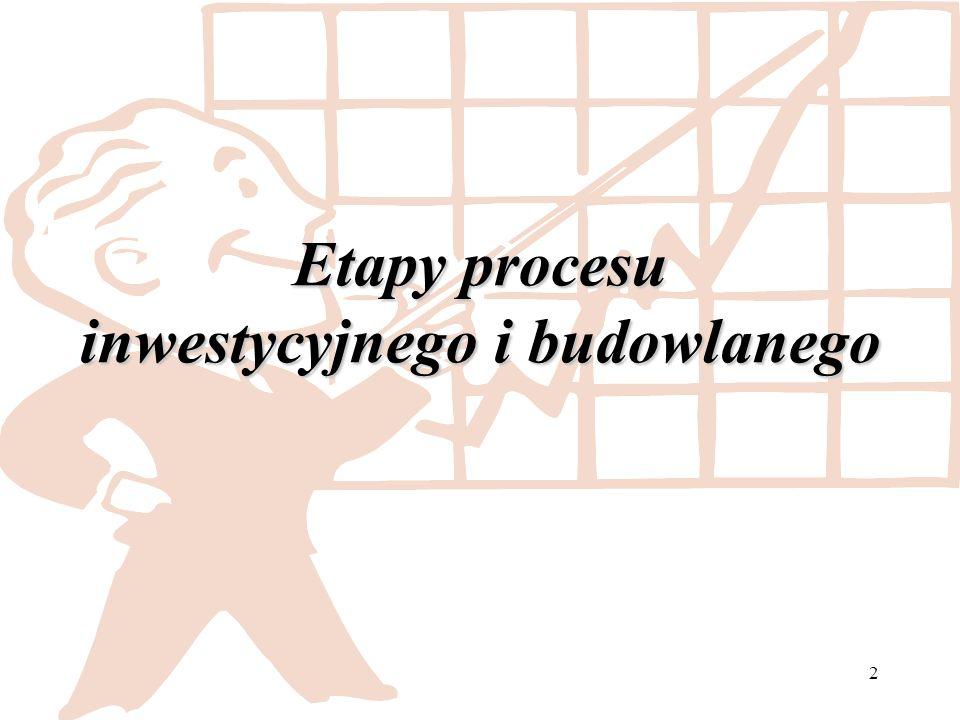 2 Etapy procesu inwestycyjnego i budowlanego