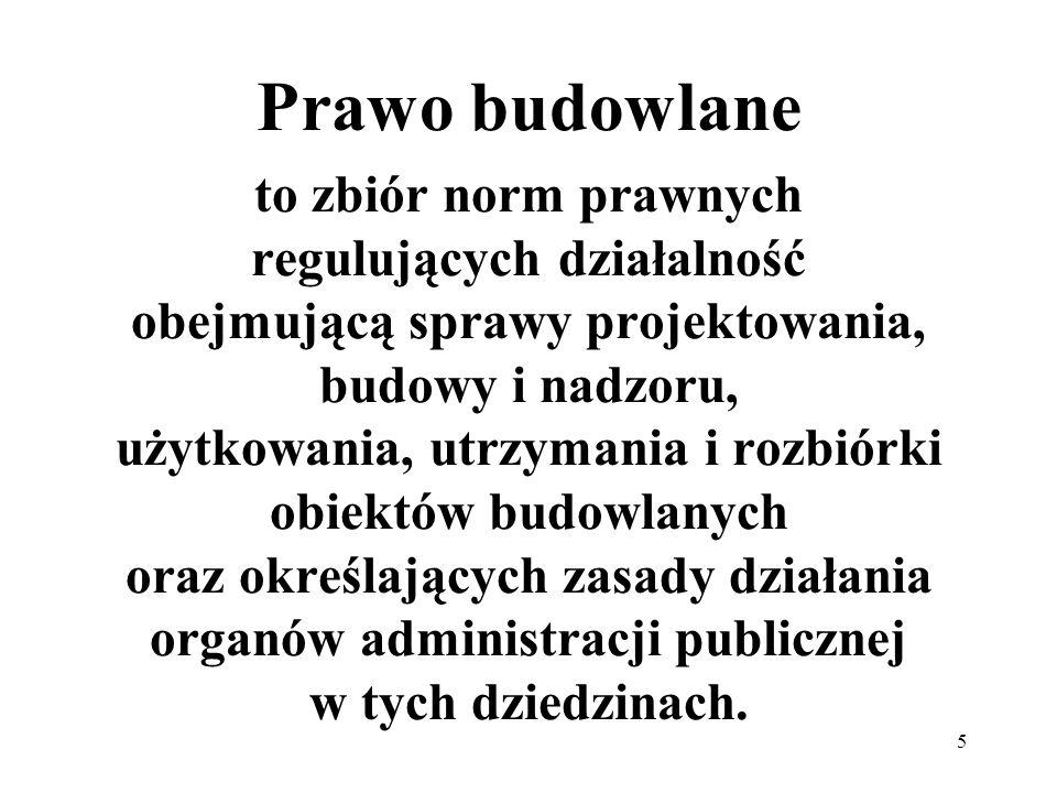 6 Prawo budowlane ustawa z dnia 7 lipca 1994 – Prawo budowlane Dz.