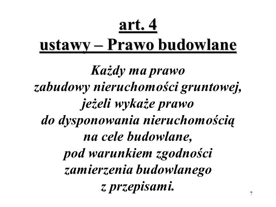 7 art.4 ustawy – Prawo budowlane art.