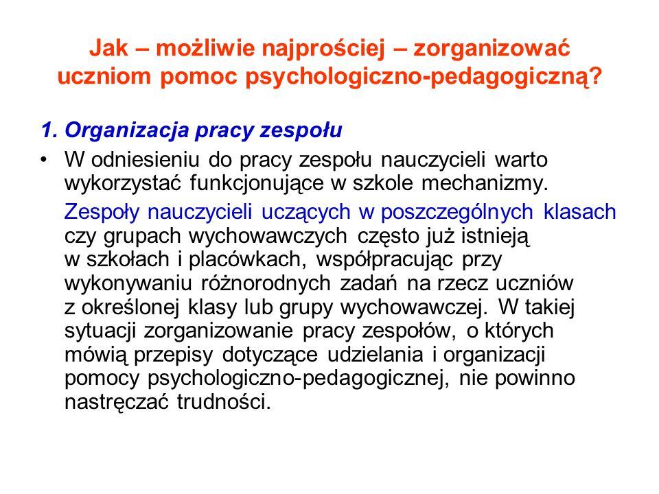 Jak – możliwie najprościej – zorganizować uczniom pomoc psychologiczno-pedagogiczną.