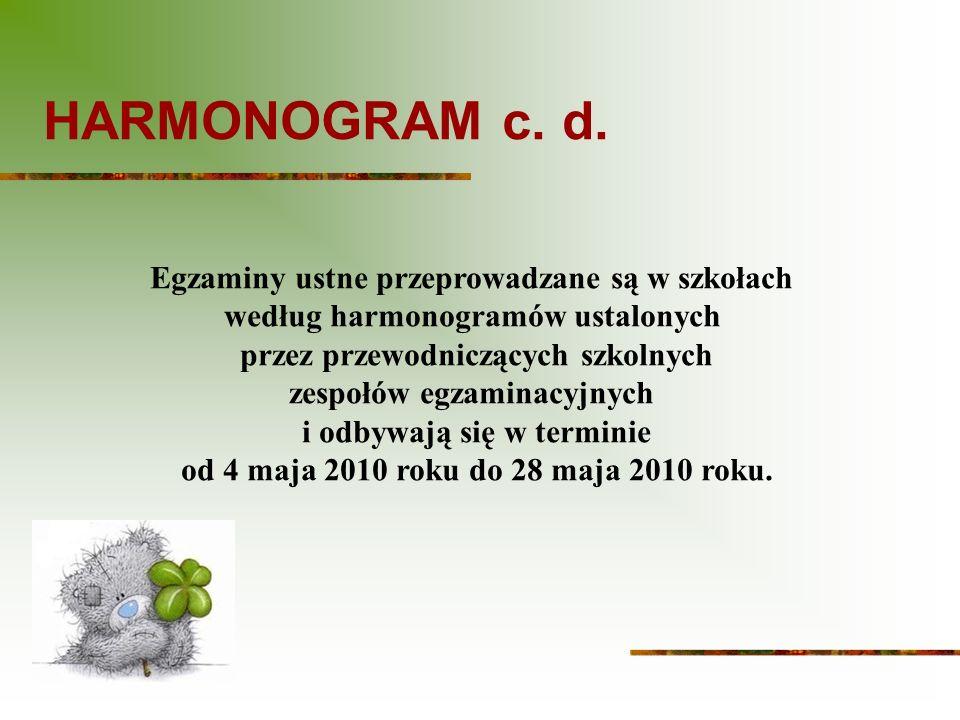 HARMONOGRAM c.d.