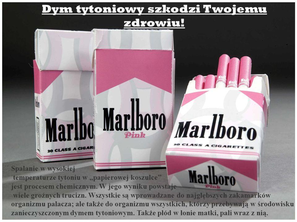 Spalanie w wysokiej temperaturze tytoniu w papierowej koszulce jest procesem chemicznym. W jego wyniku powstaje wiele groźnych trucizn. Wszystkie są w