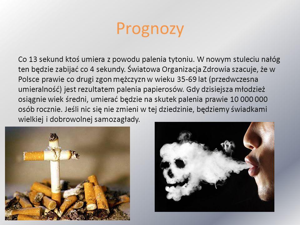 Prognozy Co 13 sekund ktoś umiera z powodu palenia tytoniu. W nowym stuleciu nałóg ten będzie zabijać co 4 sekundy. Światowa Organizacja Zdrowia szacu