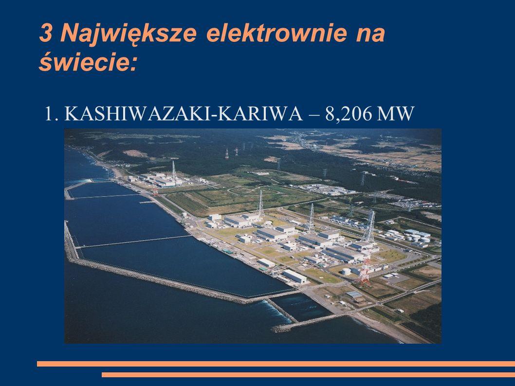 3 Największe elektrownie na świecie: 1. KASHIWAZAKI-KARIWA – 8,206 MW