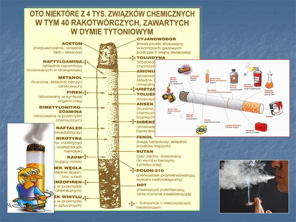 chemicznych, w tym ponad 40 to substancje rakotwórcze.