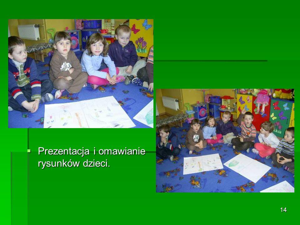 14 Prezentacja i omawianie rysunków dzieci. Prezentacja i omawianie rysunków dzieci.