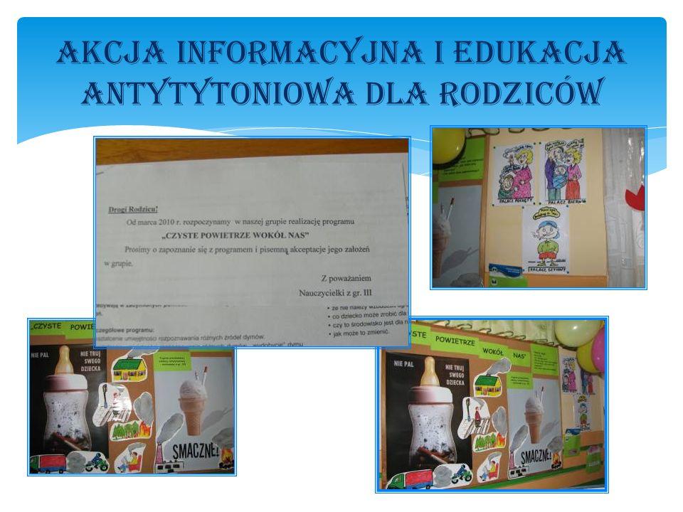Dzia Ł ania zrealizowane w roku szkolnym 2009/2010 w Przedszkolu Pod Ś wierkami