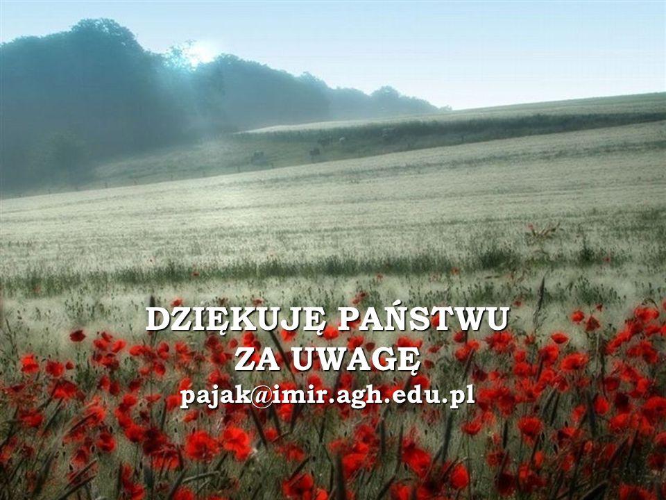 DZIĘKUJĘ PAŃSTWU ZA UWAGĘ pajak@imir.agh.edu.pl