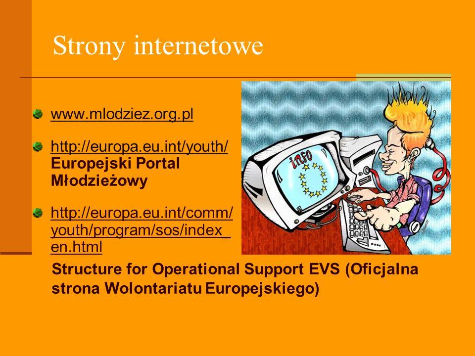 Strony internetowe www.mlodziez.org.pl http://europa.eu.int/youth/ Europejski Portal Młodzieżowy http://europa.eu.int/comm/ youth/program/sos/index_ e